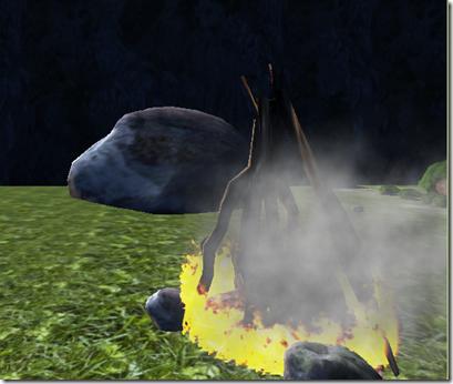 fire with smoke