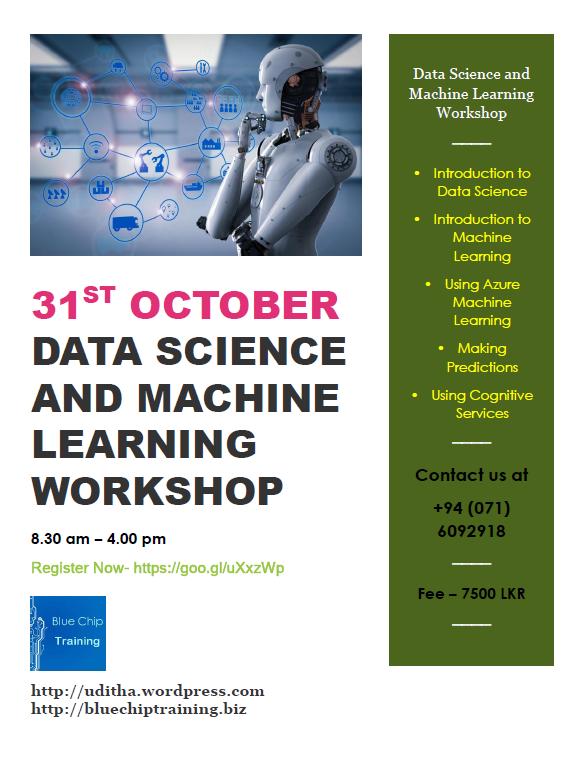 Data Science and Machine Learning Workshop Sri Lanka  | Uditha's