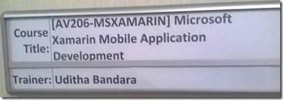 xamarin training