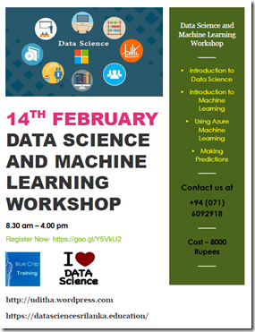 Data Science and Machine Learning Workshop Sri Lanka