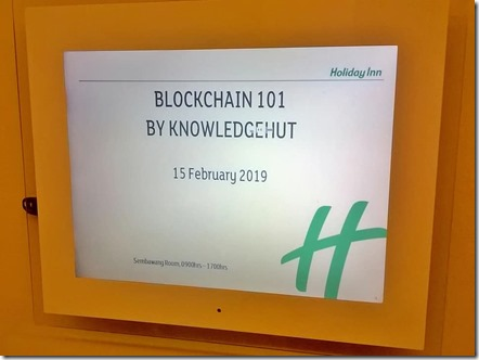 Blockchain Application Development Workshop at Singapore.