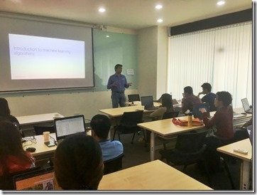 AI , Data Science and Machine Learning Workshop at Yangon, Myanmar.