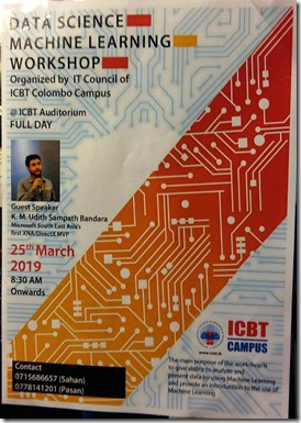 AI , Data Science and Machine Learning Workshop sri lanka