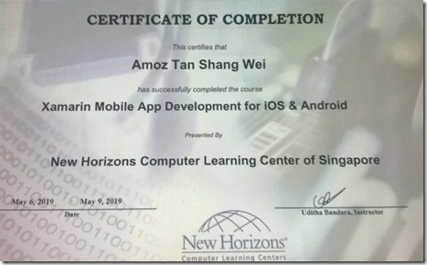 Xamarin Mobile Application Development for Android & IOS Training at Singapore.2