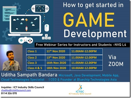 Game Development Webinar Sri Lanka